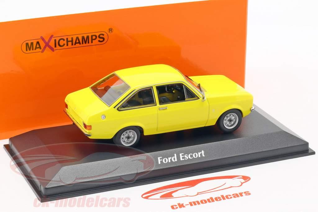 Ford Escort anno di costruzione 1975 giallo 1:43 Minichamps
