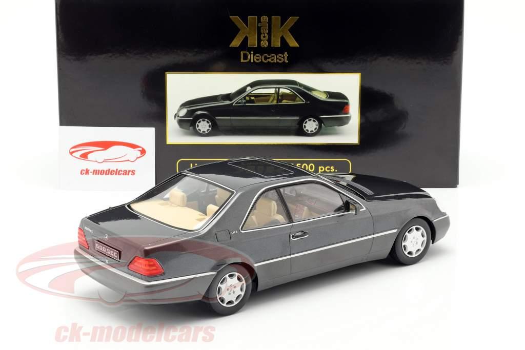 Mercedes-Benz 600 SEC (C140) Baujahr 1992 anthrazit 1:18 KK-Scale