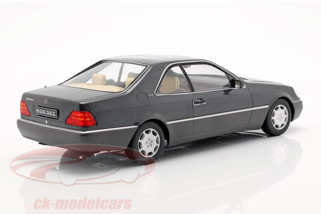 Mercedes-Benz 600 SEC (C140) ano de construção 1992 antracite 1:18 KK-Scale