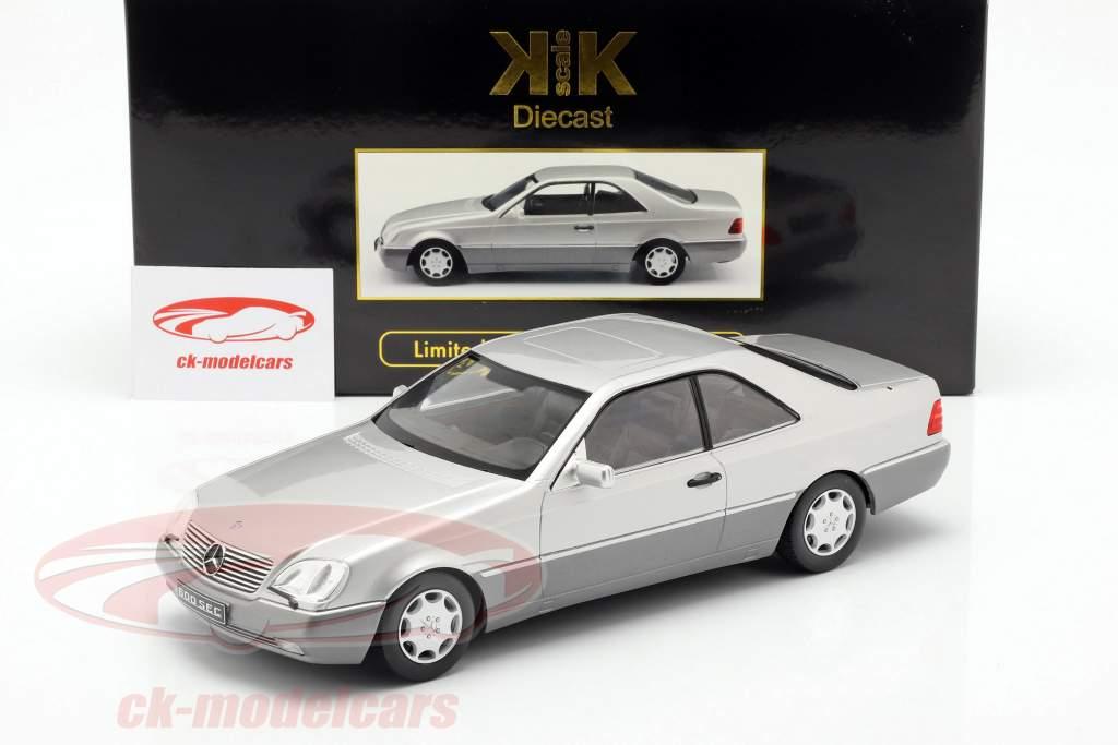 Mercedes-Benz 600 SEC (C140) anno di costruzione 1992 argento 1:18 KK-Scale
