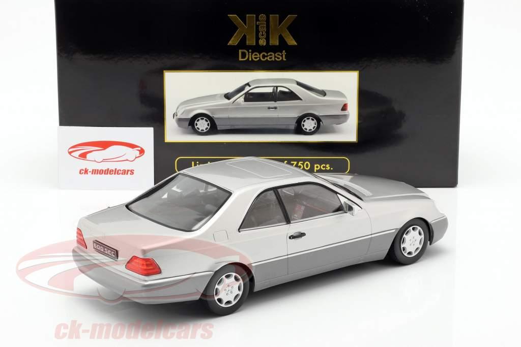 Mercedes-Benz 600 SEC (C140) ano de construção 1992 prata 1:18 KK-Scale