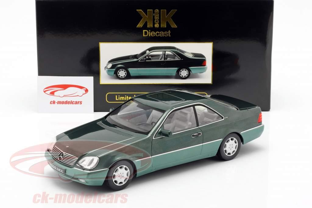 Mercedes-Benz 600 SEC (C140) year 1992 green metallic 1:18 KK-Scale