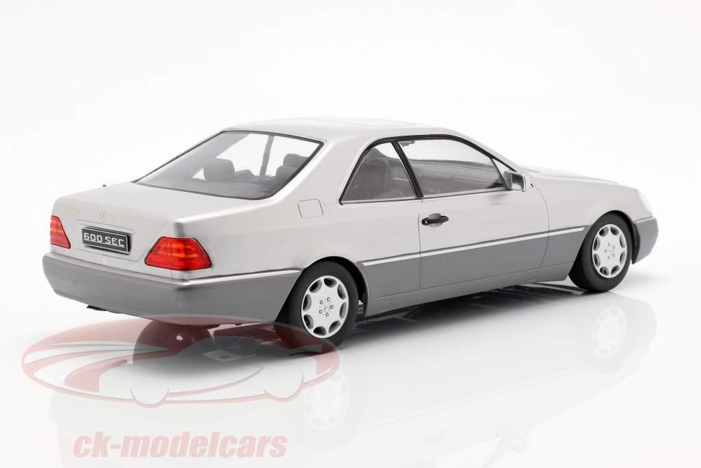 Mercedes-Benz 600 SEC (C140) Opførselsår 1992 sølv 1:18 KK-Scale