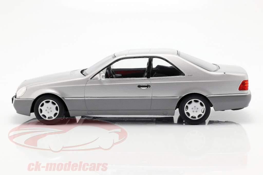 Mercedes-Benz 600 SEC (C140) année de construction 1992 argent 1:18 KK-Scale