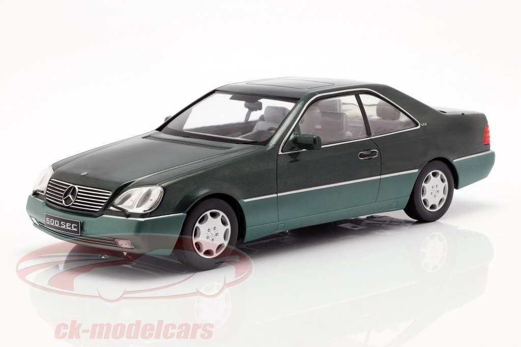 Mercedes-Benz 600 SEC (C140) anno di costruzione 1992 verde metallico 1:18 KK-Scale