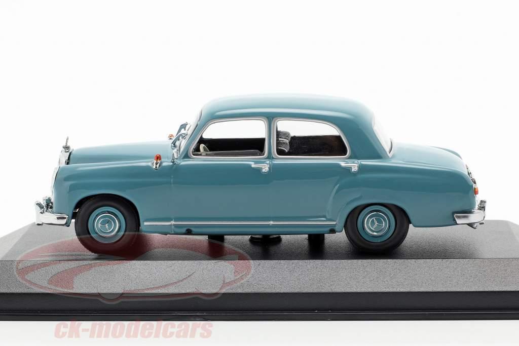Mercedes-Benz 180 (W120) ano de construção 1955 azul claro 1:43 Minichamps