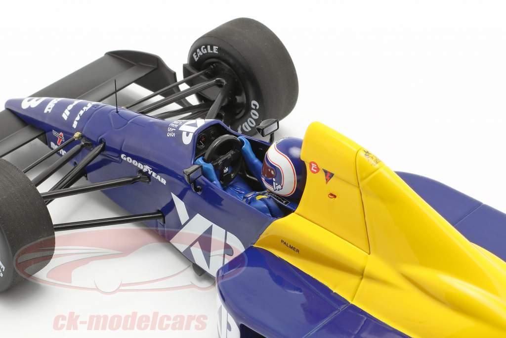 Jonathan Palmer Tyrrell 018 #3 francese GP formula 1 1989 1:18 Minichamps