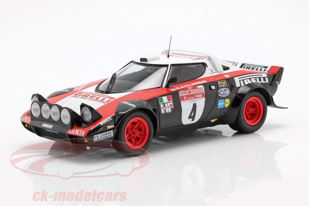 Lancia Stratos HF #4 winnaar Rallye San Remo 1978 Alen, Kivimäki 1:18 Minichamps