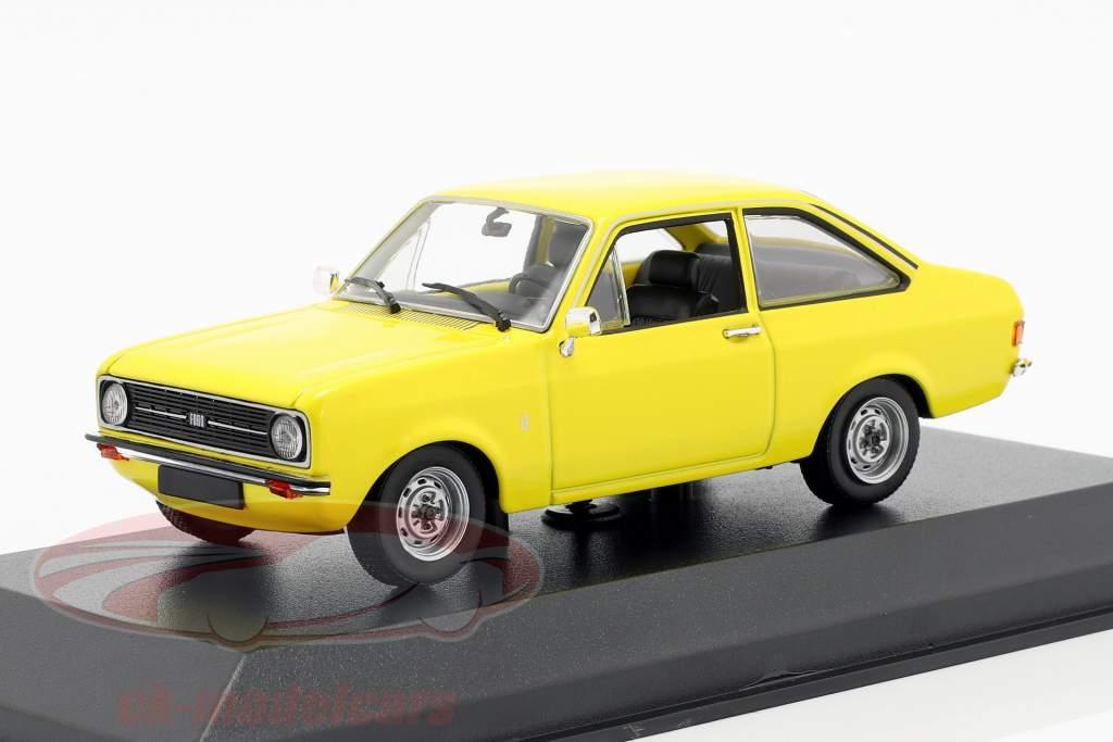 Ford Escort año de construcción 1975 amarillo 1:43 Minichamps