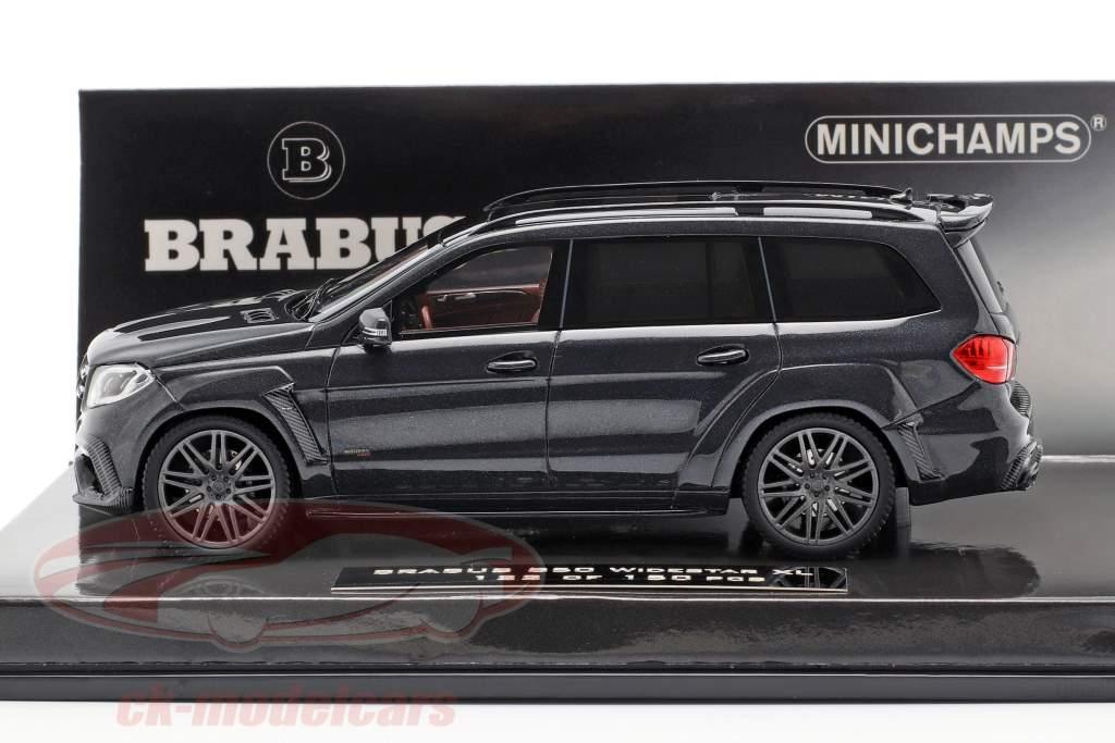 Brabus 850 Widestar XL auf Basis AMG GLS 63 Baujahr 2017 schwarz metallic 1:43 Minichamps