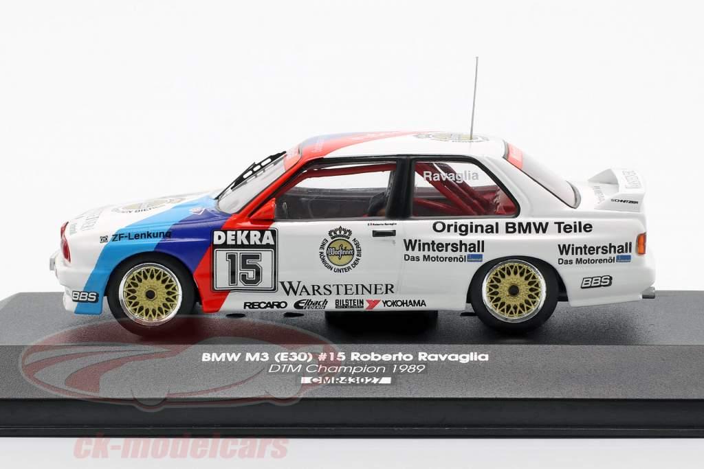 BMW M3 E30 #15 DTM kampioen 1989 Roberto Ravaglia 1:43 CMR