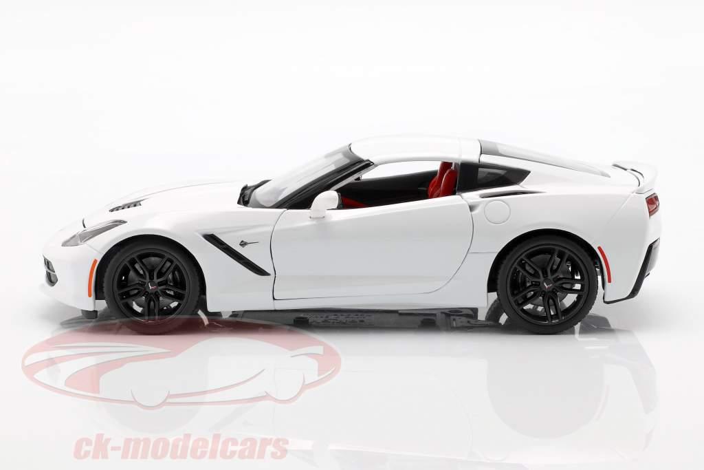 Corvette Stingray Z51 Anno 2014 bianco 1:18 Maisto