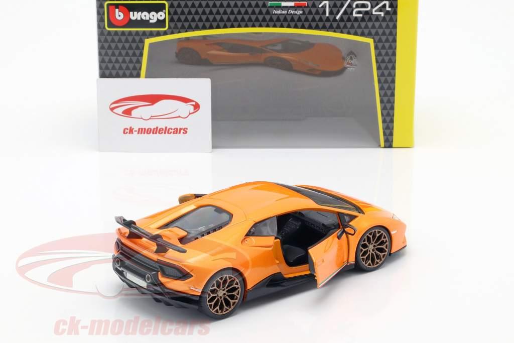 Lamborghini Huracan Performante year 2017 orange metallic 1:24 Bburago