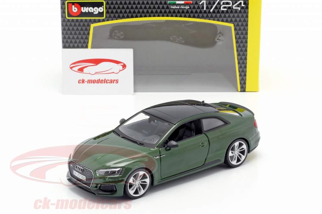 Audi RS 5 coupe verde oscuro 1:24 Bburago