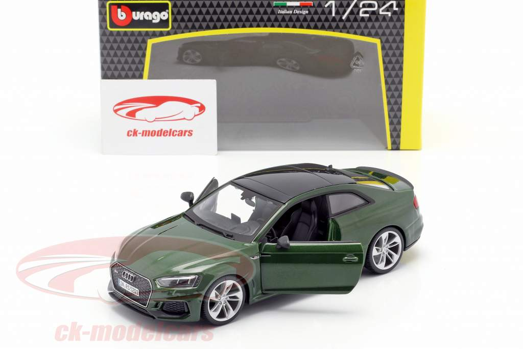 Audi RS 5 coupe donkergroen 1:24 Bburago