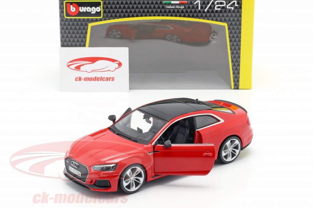 Audi RS 5 coupe rood 1:24 Bburago