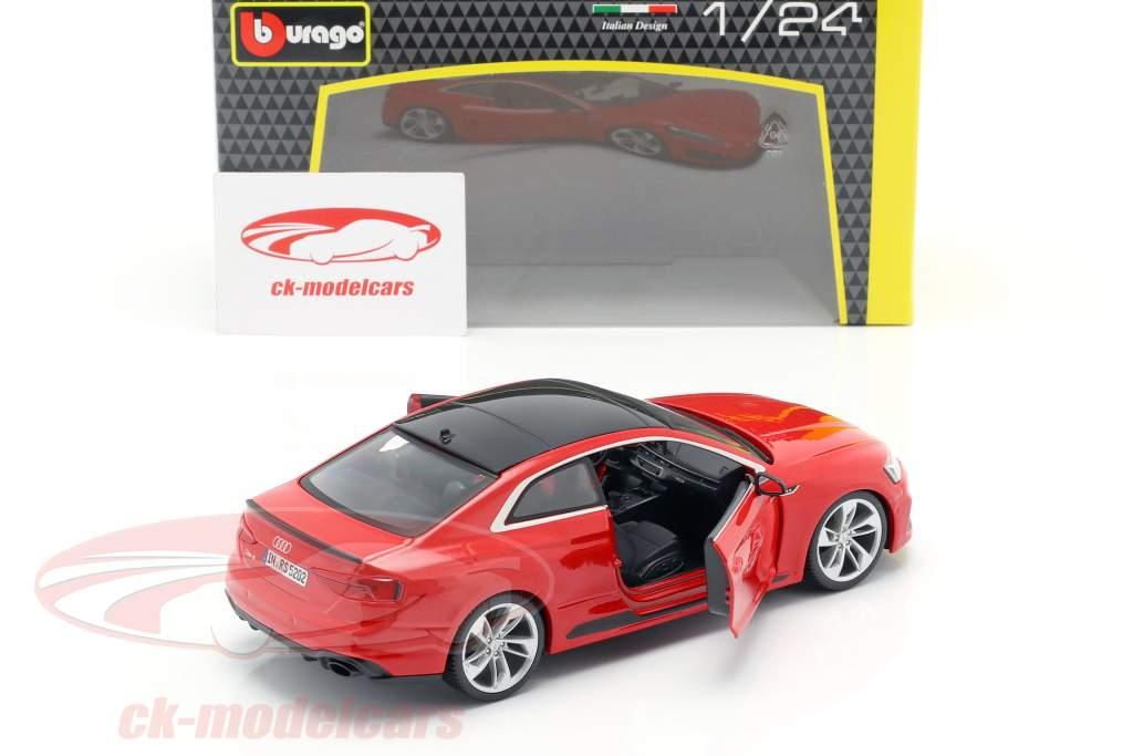 Audi RS 5 coupe rød 1:24 Bburago