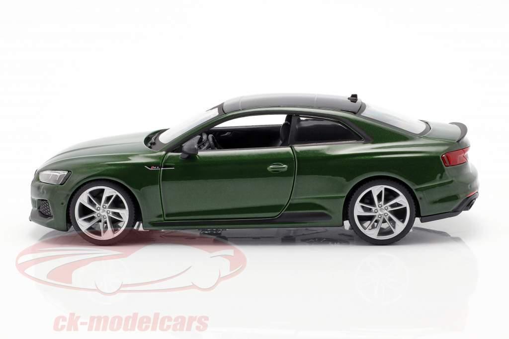 Audi RS 5 coupe mørkegrøn 1:24 Bburago