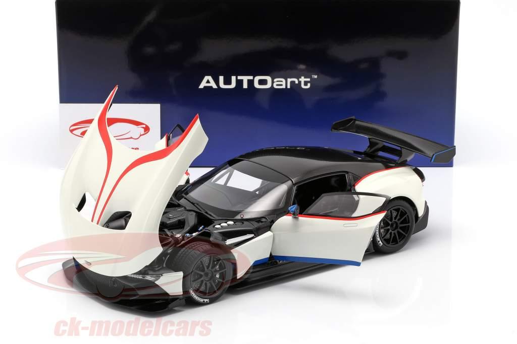 Aston Martin Vulcan Bouwjaar 2015 stratus wit 1:18 AUTOart