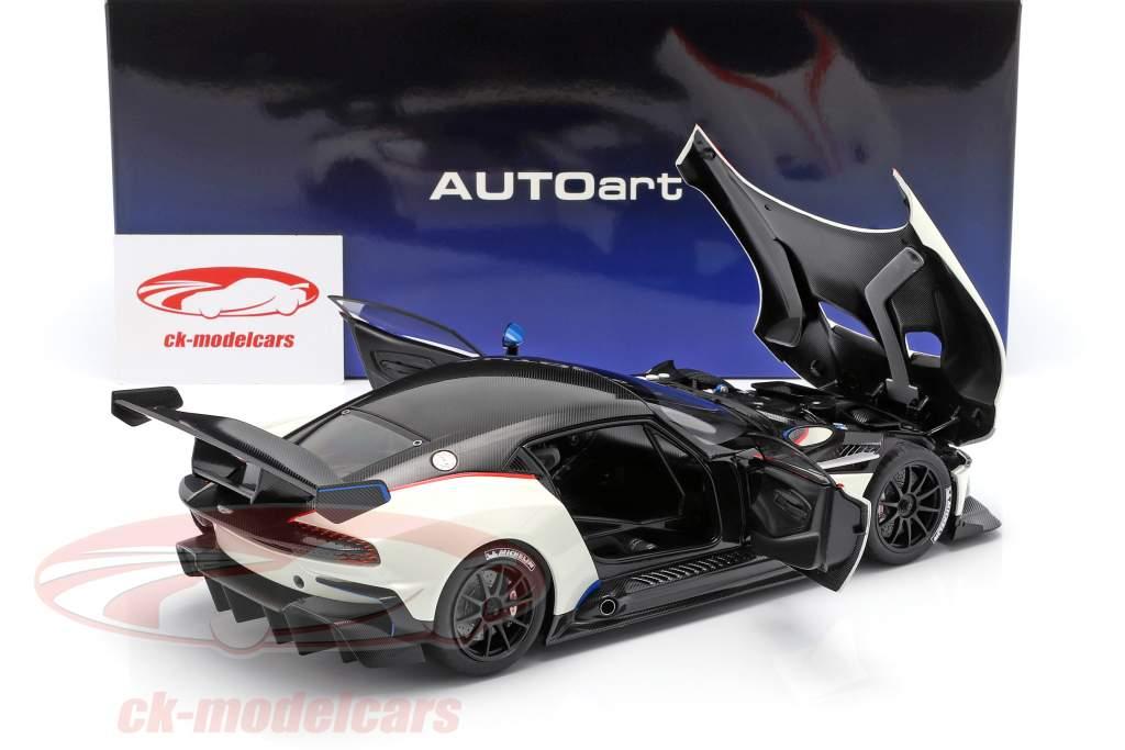 Aston Martin Vulcan ano de construção 2015 stratus branco 1:18 AUTOart