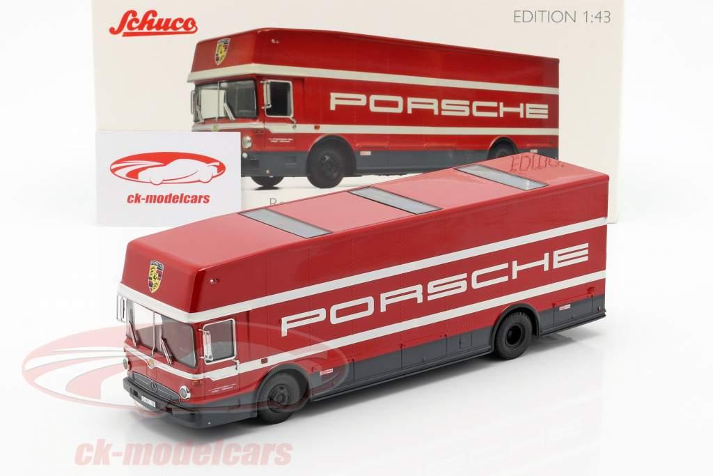Mercedes-Benz O 317 raza camión Porsche Motorsport rojo 1:43 Schuco