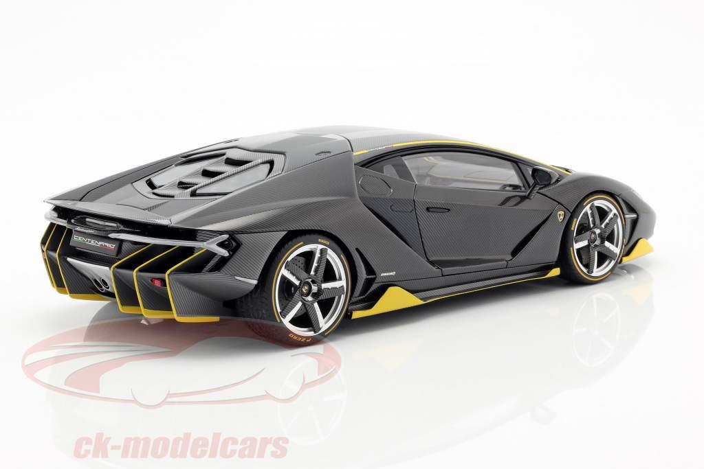 Lamborghini Centenario LP770-4 année de construction 2017 clair carboxylique 1:18 AUTOart