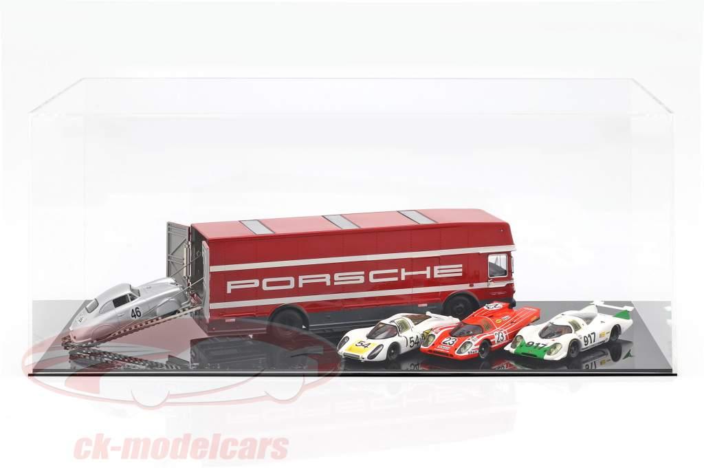 Mercedes-Benz O 317 gara camion Porsche Motorsport rosso 1:43 Schuco