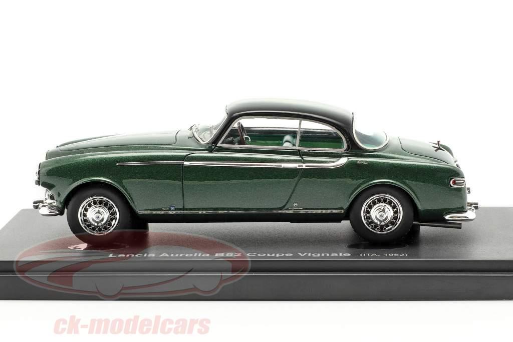 Lancia Aurelia B52 Coupe Vignale année de construction 1952 vert foncé / noir 1:43 AutoCult