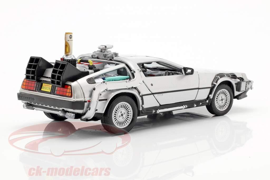 3 Car Set DeLorean DMC-12 Back to the Future Part 1-3 1985-90 1:24 Welly