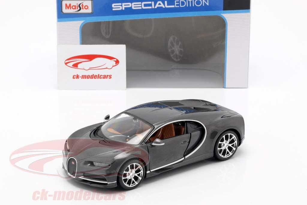 Bugatti Chiron Bouwjaar 2016 grijs metalen 1:24 Maisto