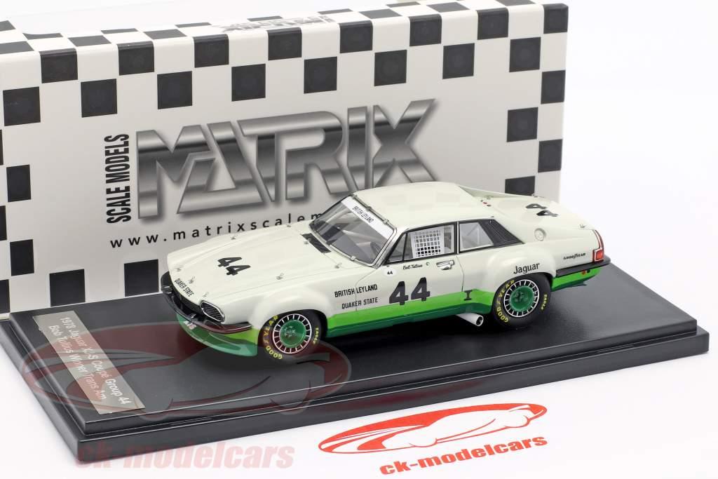 Jaguar XJ-S Coupe #44 winnaar Trans Am Series 1978 Bob Tullius 1:43 Matrix