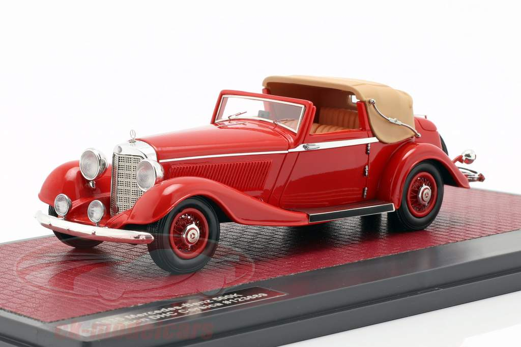 Mercedes-Benz 500K DHC Corsica Open Top year 1935 red 1:43 Matrix
