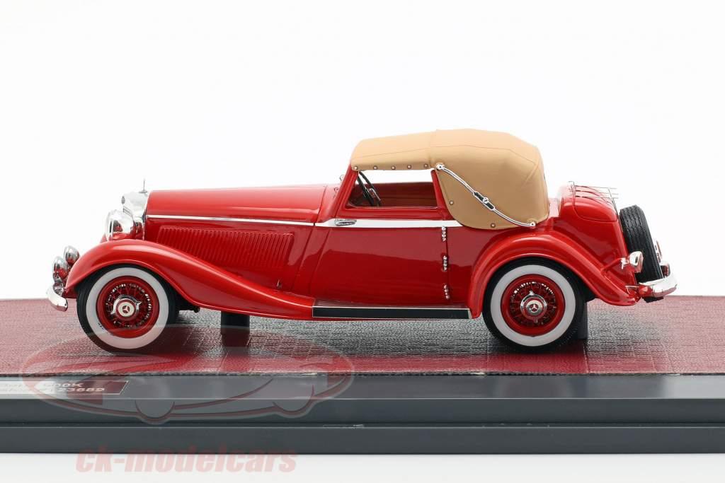 Mercedes-Benz 500K DHC Corsica Closed Top Opførselsår 1935 rød 1:43 Matrix