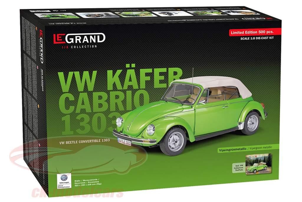 Volkswagen VW kever 1303 Cabriolet Bouwjaar 1976 uitrusting adder groen 1:8 LeGrand