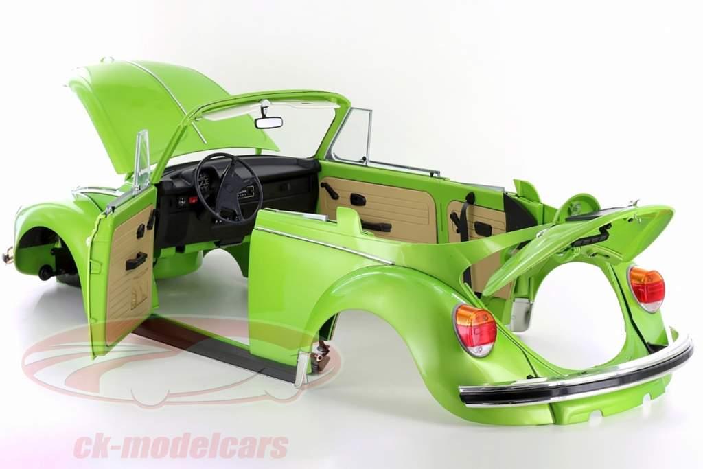 Volkswagen VW escarabajo 1303 cabriolé año de construcción 1976 equipo víbora verde 1:8 LeGrand