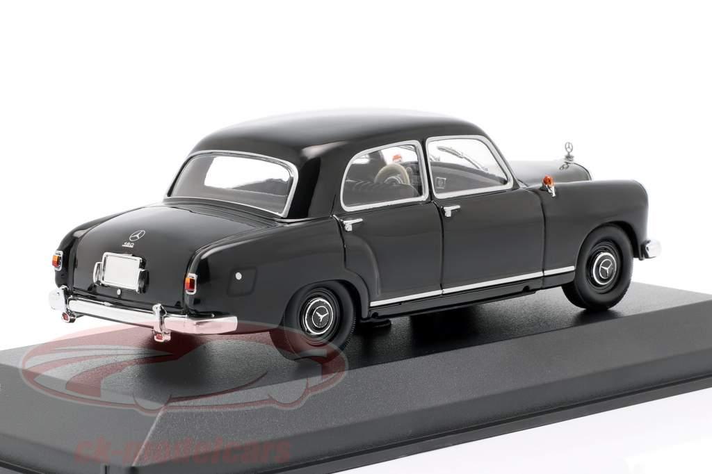Mercedes-Benz 180 (W120) año de construcción 1955 negro 1:43 Minichamps