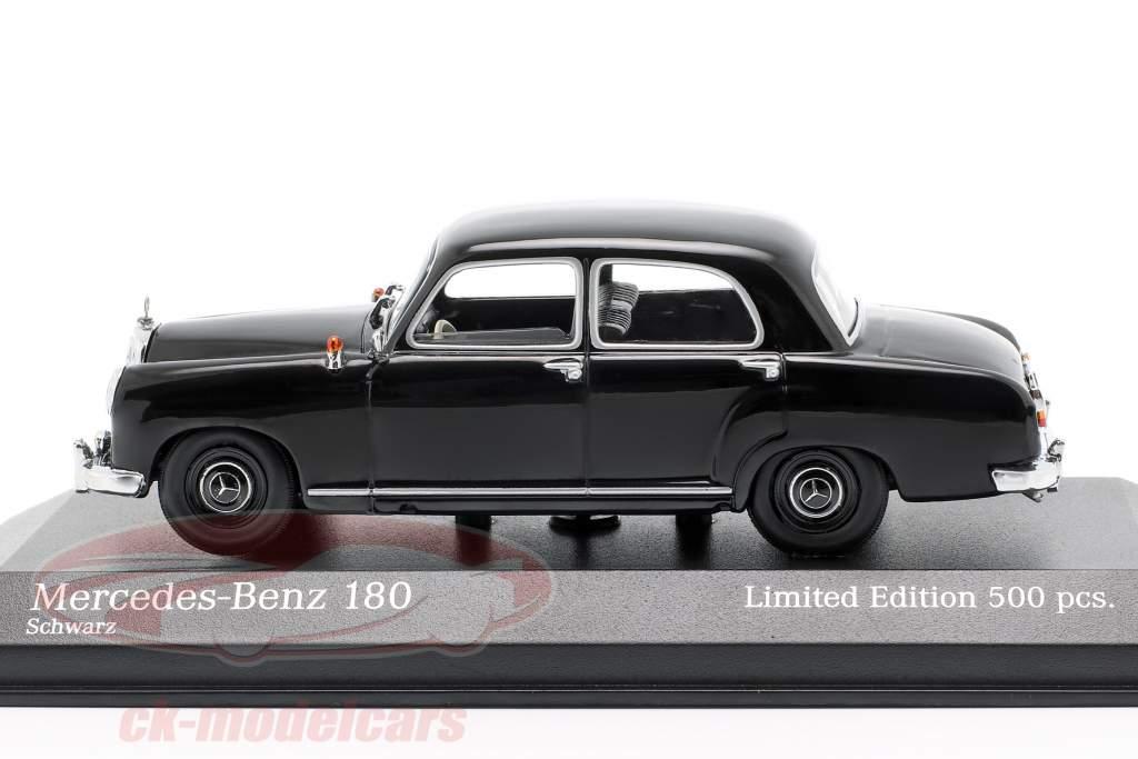 Mercedes-Benz 180 (W120) Bouwjaar 1955 zwart 1:43 Minichamps