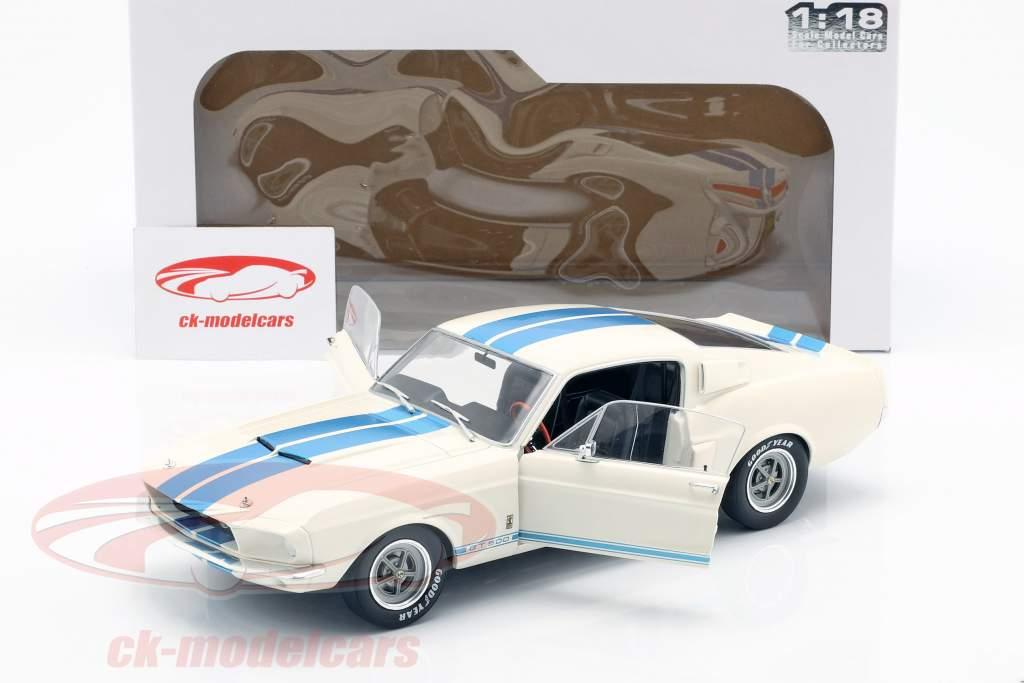 Shelby Mustang GT500 Opførselsår 1967 hvid / blå 1:18 Solido