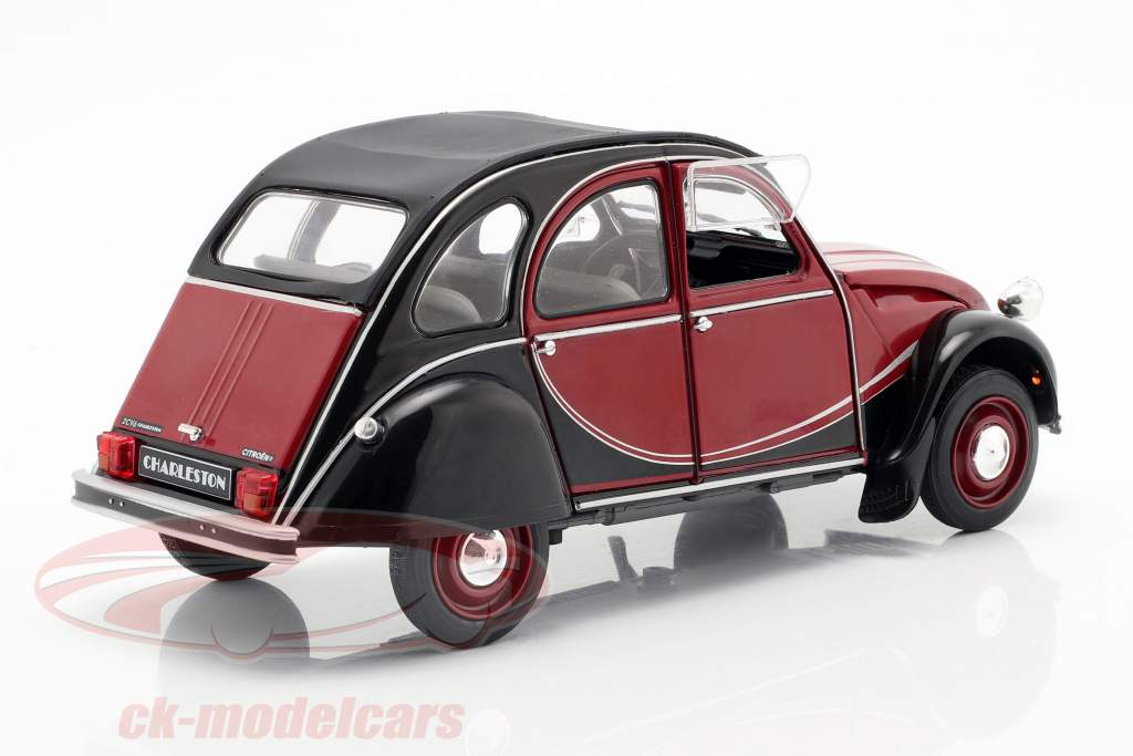 Citroen 2CV Charleston Opførselsår 1982 mørk rød / sort 1:18 Solido