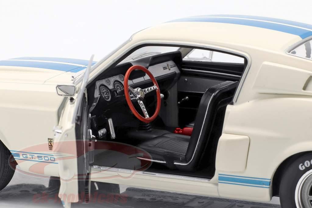 Shelby Mustang GT500 Baujahr 1967 weiß / blau 1:18 Solido