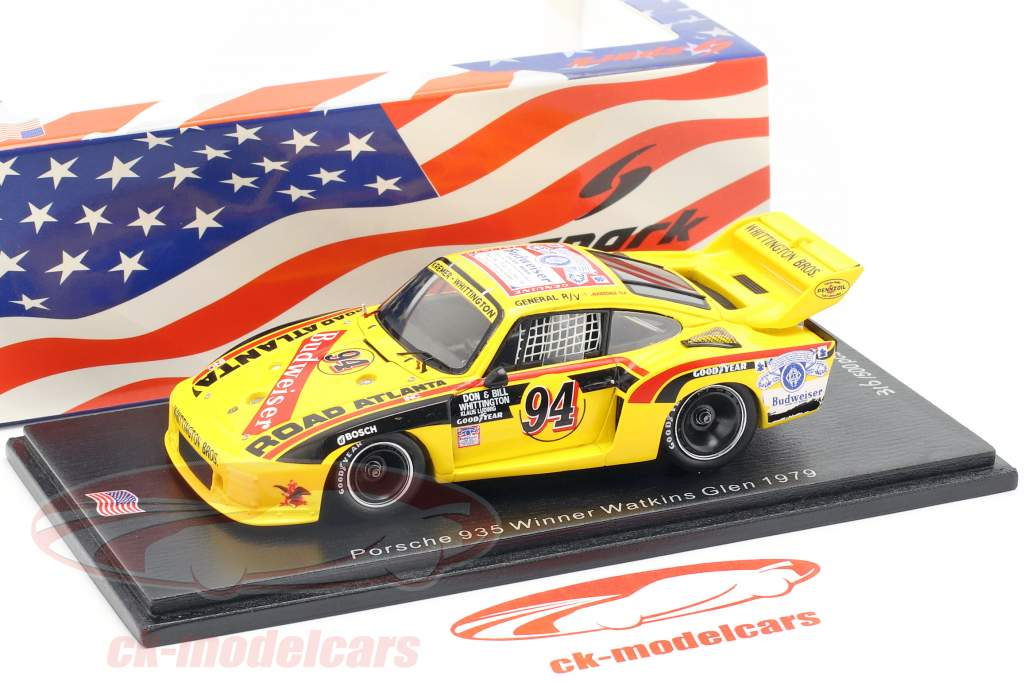 Porsche 935 #94 winnaar Watkins Glen 6h 1979 D. Whittington, Ludwig, B. Whittington 1:43 Spark