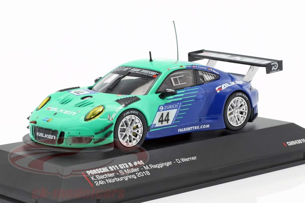 Porsche 911 (991) GT3 R #44 noveno 24h Nürburgring 2018 Falken 1:43 CMR
