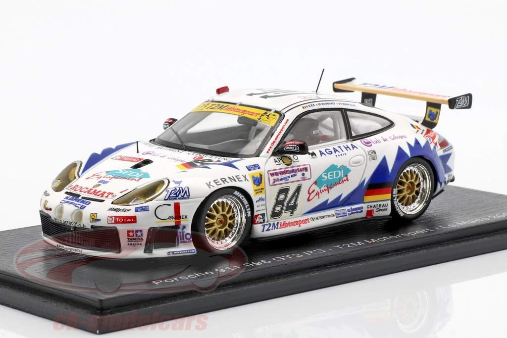 Porsche 911 GT3 RS #84 24h LeMans 2003 Ickx, Berville, Bourdais 1:43 Spark