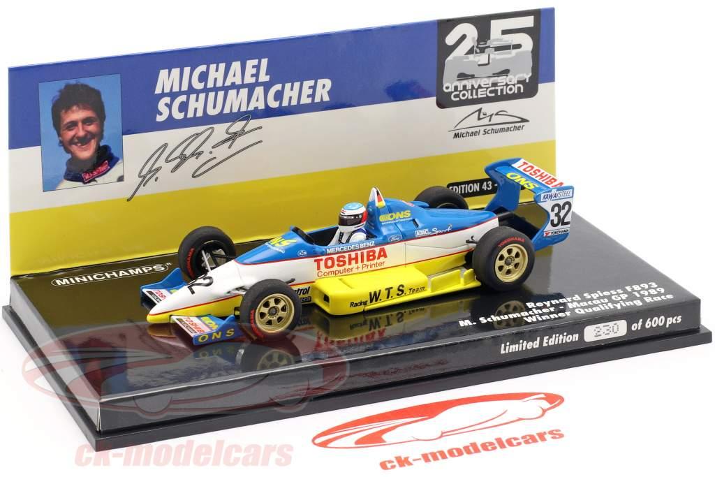 M. Schumacher Reynard 893 #32 vencedor de qualificação Macau GP 1989 1:43 Minichamps