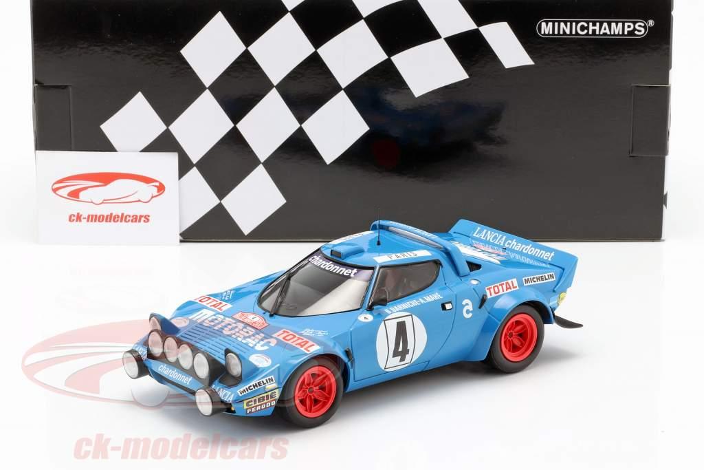 Lancia Stratos HF #4 winnaar Rallye Monte Carlo 1979 Darniche, Mahe 1:18 Minichamps