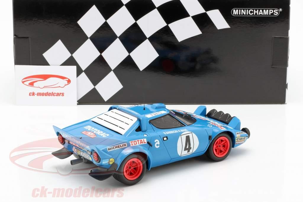 Lancia Stratos HF #4 gagnant Rallye Monte Carlo 1979 Darniche, Mahe 1:18 Minichamps