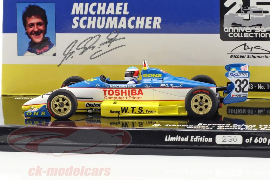 M. Schumacher Reynard 893 #32 gagnant qualificatif Macau GP 1989 1:43 Minichamps