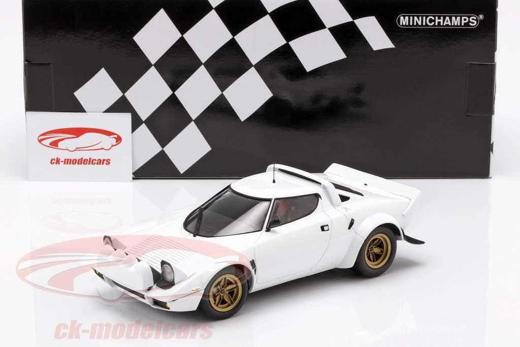 Lancia Stratos Opførselsår 1974 hvid 1:18 Minichamps