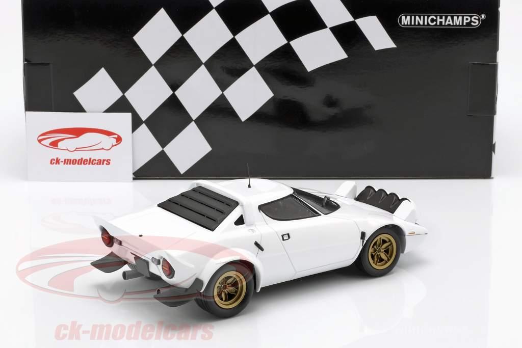 Lancia Stratos année de construction 1974 blanc 1:18 Minichamps