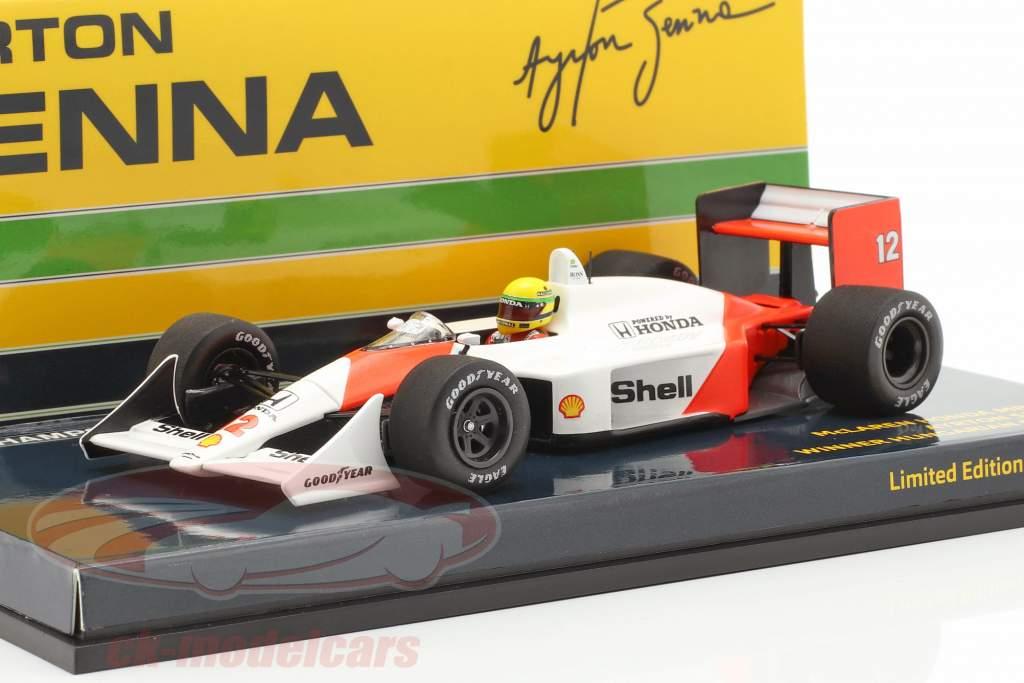 A. Senna McLaren MP4/4 #12 vincitore Ungheria GP campione del mondo F1 1988 1:43 Minichamps